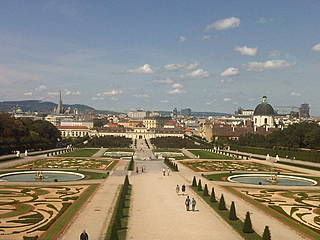 Blick auf den Schlossgarten und das Untere Belvedere. © Wien-Vienna